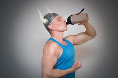 Athletic man isolated. royalty free stock image