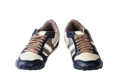 Athletic man's shoes Stock Photos
