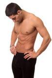 Athletic Man Shirtless Stock Photo