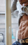 Athletic man with six-pack Stock Photography