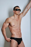 Athletic man with six-pack Royalty Free Stock Photo