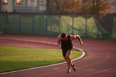 Athletic man start Royalty Free Stock Photography