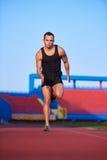 Athletic man start Royalty Free Stock Image