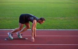 Athletic man start Royalty Free Stock Photography