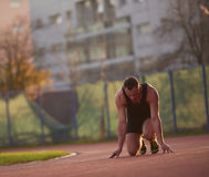 Athletic man start Stock Images