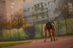 Athletic man start Royalty Free Stock Images