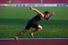 Athletic man start Royalty Free Stock Photos