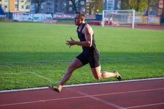 Athletic man start Stock Image