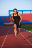 Athletic man start Royalty Free Stock Photo