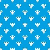 Athletic man torso pattern seamless blue Royalty Free Stock Photos