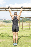 Athletic man training and exercising, outdoor. Stock Image