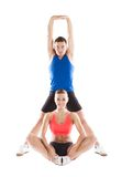 Athletic man and woman. Athletic men and women before fitness exercise royalty free stock photo
