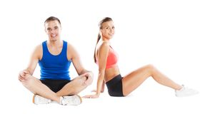 Athletic man and woman Stock Photo