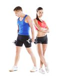 Athletic man and woman Royalty Free Stock Images