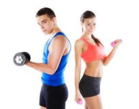 Athletic man and woman Royalty Free Stock Image