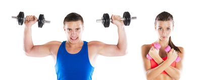 Athletic man and woman Stock Photography
