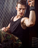 Athletic Man After Workout Royalty Free Stock Photography
