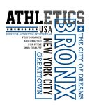 New York City, Bronx typography design for tshirt print. Sports, athletics t-shirt graphics Royalty Free Stock Photo