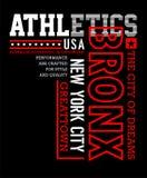 Athletic Manhattan t-shirt Typography Design Stock Photo