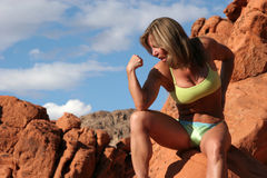 Athletic mature woman Stock Image