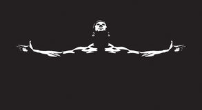 Athletic man. Vector illustration for your projects Stock Image