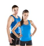 Athletic man and woman Stock Image
