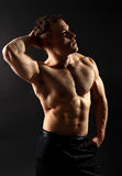 Athletic muscled body Royalty Free Stock Image