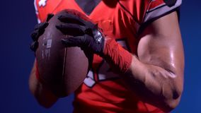 Athletic Muscular American football player stock video