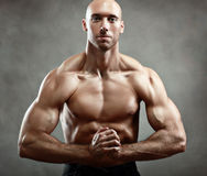 Athletic muscular man Stock Photography