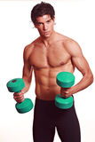 Athletic muscular man workout stock photo