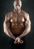 Athletic muscule man Stock Images