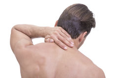 Athletic neck pain Stock Images