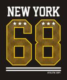 Athletic  New york. Athletic New york, t-shirt graphics, vectors graphic design Royalty Free Stock Photography