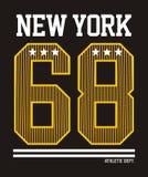 Athletic New york. T-shirt graphics, vectors graphic design Vector Illustration