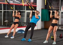 Athletic people doing crossfit training Royalty Free Stock Image