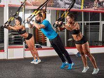 Athletic people doing crossfit training Stock Photography