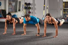 Athletic people doing crossfit training Royalty Free Stock Photo