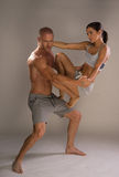 Athletic physical romantic couple Stock Photography