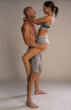 Athletic physical romantic couple Royalty Free Stock Images