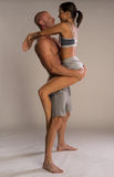 Athletic physical romantic couple Stock Photos