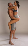Athletic physical romantic couple Royalty Free Stock Photo
