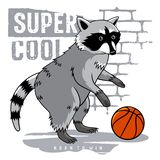 Athletic Raccoon 001 royalty free stock photography