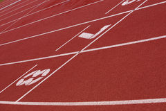 Athletic running track Stock Photos