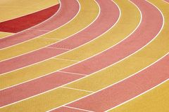 Athletic Running Track Royalty Free Stock Photography