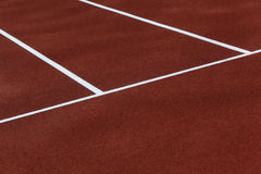 Athletic running track lanes Royalty Free Stock Photos
