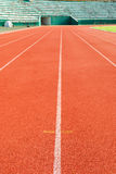 Athletic running track Stock Photography