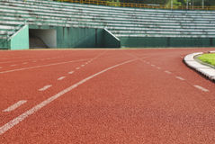 Athletic running track Stock Image