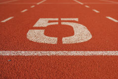 Athletic running track in stadium Royalty Free Stock Photography