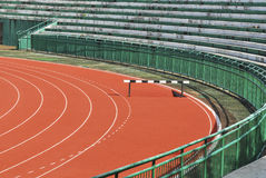 Athletic running track in stadium Royalty Free Stock Photos