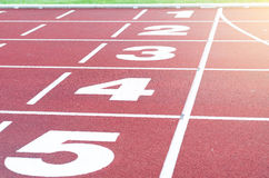 Athletic runways/track Stock Images